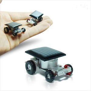 The Smallest Car in The World Mini Solar Powered Car Kids Toy for Children
