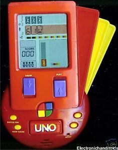 Hasbro Electronic Handheld Uno Travel Toy Card Video Game Fun Family Kids Mattel