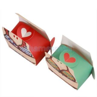 1 Pair Silk Ribbon Bikini Swimwear Wedding Party Favor Candy Gift Boxes Fashion