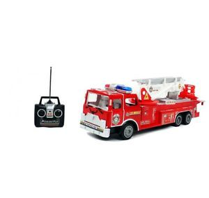 27MHz Remote Control R C Fire Truck Toy for Kids Ages 3