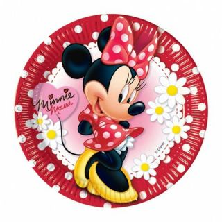 Party Tableware Minnie Mouse Red and White Polka Dot Paper Plates 10 Pack
