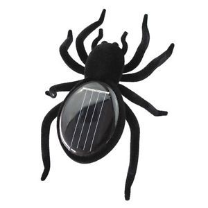 Black Solar Powered Spider Educational Child Toys Gad​get Gift Robot Kid Toys