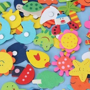48 Colorful Baby Kids Handcraft DIY Wooden Carton Fridge Magnet Education Toy