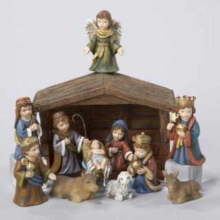 Kurt Adler Christmas Nativity Scene Stable Children