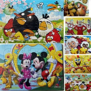 40pc Wooden Jigsaw Puzzle Angry Birds Pattern Baby Children Kids Educational Toy