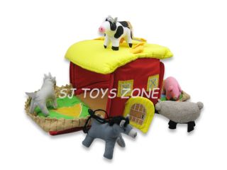Soft Toy Fabric Cloth My Farm House Play Bag Pretend Play Kids Toy Gift