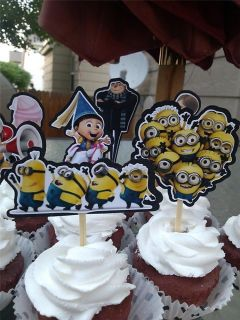 Despicable Me 2 Cupcake Cake Toppers Birthday Party Decorations Supplies
