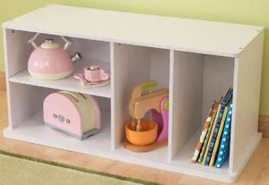 Kids Shelf Dividers Wood Wooden Toys Games Storage Book Case Childrens Furniture