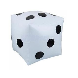 2pcs White Inflatable Big Dice Kids Home Pool Garden Fun Play Toy Party Favours