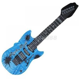 Inflatable Blow Up Guitar for Kids Play Toy Party Props