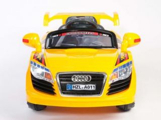 Audi A011 Style Kids Toy Electric Power Wheels Ride on Race Car  Remote R C