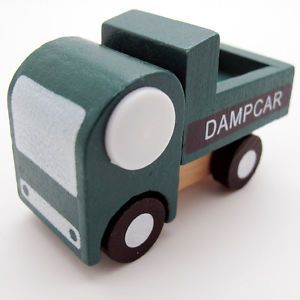 New Green White Hand Made Wooden Wood Mini Truck Car Baby Kids Toys