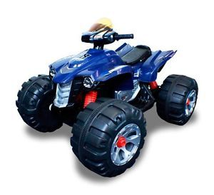 New 12V Battery Powered Electric Kids Ride On Toy ATV Car 4 Wheel Blue