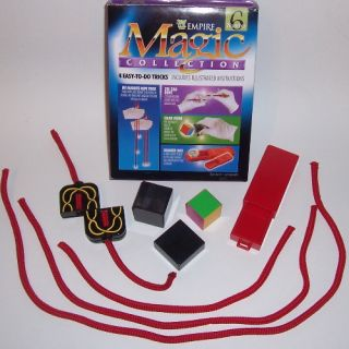 Magic Collection Set 6 Empire Kit Easy Beginner Trick Zig Zag Rope Drawer Box