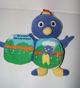 Backyardigans Plush Pablo Book Puppet Toys Stuffed Animal EUC