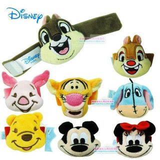 1× Disney Infant Baby Kids Velvet Wrist Watch Rattles Soft Toys Hands Finders 0