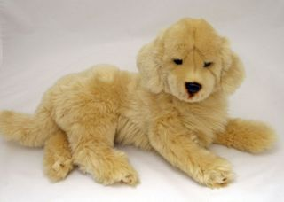 "Golden Retriever Lying Soft Plush Toy 'Honey' 16"" 40cm"