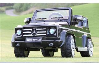 Licensed Mercedes Benz G55 AMG Kids Ride on Power Wheels Battery Toy Car Black