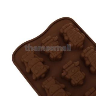New Robot Pattern Silicone Chocolate Cake Jelly Muffin Mold Tray Party DIY Food