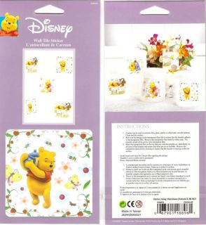 Decorative Wall Tile Stickers Winnie The Pooh 2