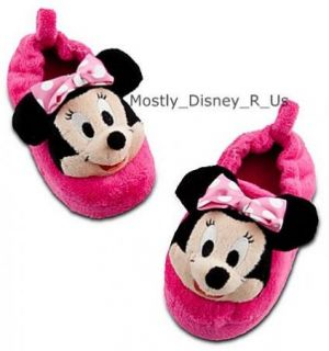 Minnie Mouse Girls Plush Slippers New