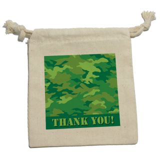 Thank You Camouflage Army Soldier Hunting Boys Birthday Gift Party Favor Bags