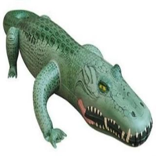Realistic Alligator Animal Reptile Scales Inflatable Toy Florida Pool Fun Kids