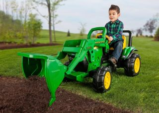 Peg Perego John Deere Riding Front Loader Pedal Tractor for Kids