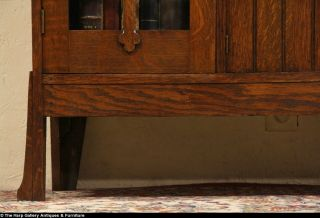 Mission Oak Arts Crafts 1905 Antique Secretary Desk Bookcase