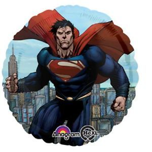 Superman Foil Mylar Balloon Birthday Baby Shower Party Supplies Round Decoration