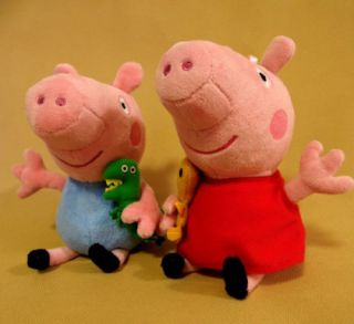 4 Pcs Peppa Pig Family Plush Doll Stuffed Toy Daddy Mummy Peppa George