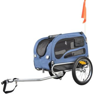Doggyhut Medium Pet Bike Trailer Jogger Kit Dog Bicycle Carrier Blue 7030102