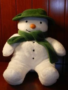 Kids Preferred The Snowman Plush Stuffed Soft Baby Lovey Toy Green White 12""