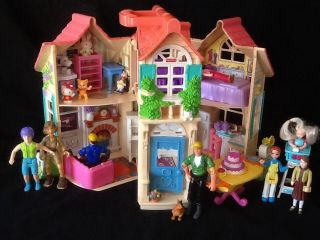 Fisher Price Sweet Streets 2000 Cottage House People Furniture Toys EXTRAS Look