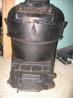 Antique Cast Iron Pot Bellied Water Heater Coal Peerless Steampunk on Demand