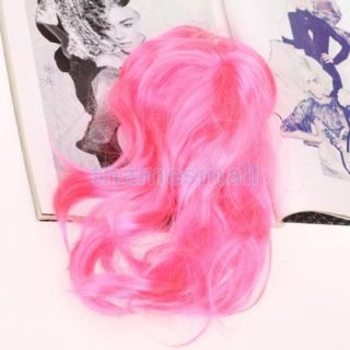 Pet Dog Puppy Cat Fashion Long Wavy Wig Hair Party Accessories Gift 03923