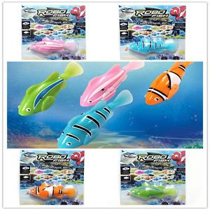 4 Pcs Robo Fish Battery Powered Electric Pet Toy Robofish Clownfish Aquatic Kids
