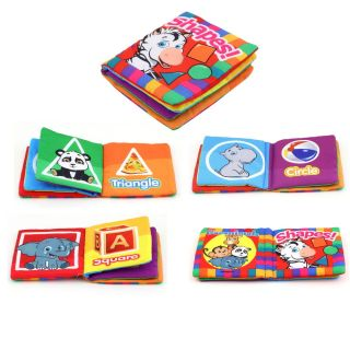 Baby Kid Child Intelligence Development Cloth Book Cognize Book Funny Toy D9