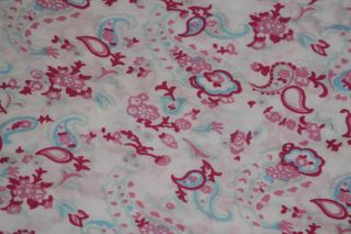 Simply Shabby Chic Baby Petite Paisley Crib Bedding Set 5 PC Pink Blue Paisley