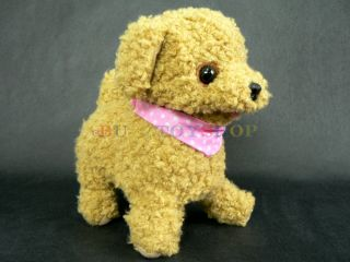 Japan Animal Toy Poodle Kids Plush Toy Walking Barking Shaking Tail Pet Doll