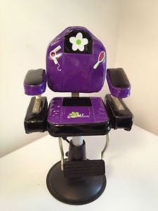 "Battat Doll Beauty Salon Chair 18"" Fits American Girl Our Generation Purple"
