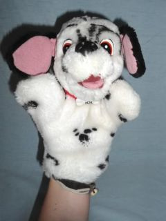 "Original Mattel Disney 1991 101 Dalmatians 9"" Plush Hand Puppet Dog Puppy"