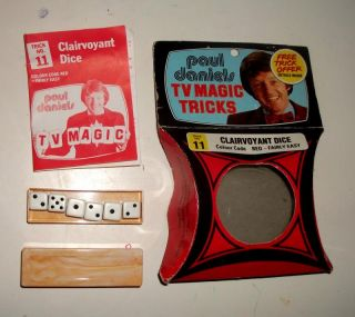 Vintage 1979 Paul Daniels TV Magic Tricks No 11 Clairvoyant Dice Boxed
