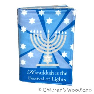 Hanukkah Cloth Soft Book Kids Baby Chanukkah Gift Present Stuffed Menorah
