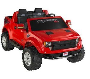 Power Wheels Ford F 150 Raptor 12 Volt Battery Powered Ride on Toy Truck Radio