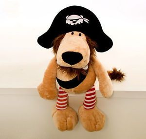 24'' Pirate Lion Stuffed Animal Doll Plush Cute Soft Toy Kids Gift