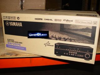 Yamaha RX V575 7 2 Channel Home Theater Audio Video A V Receiver Amp RXV575 New