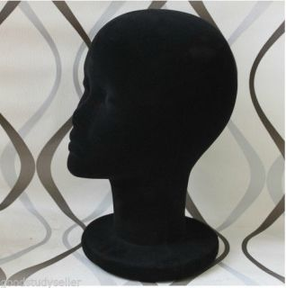 Hot High Simulation Black Foam Mannequin Head Props for Headsets Wigs Hats Etc