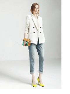 New Fashion Casual Women's Lapel Solid Slim Suit Shaped Blazer Coat Jacket SML