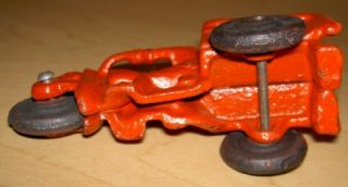 "Replica Cast Iron 1930's Toy Motorcycle Crash Car 4 5"" Harley Davidson Servicar"